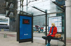 Humiliating Gym Campaigns - Fitness First's Giant Scales at Bus Stops Display Your Weight