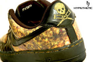 "Hypethetic ""Mosaic Skull Force One"" Shoes Look Like Digi Camo"