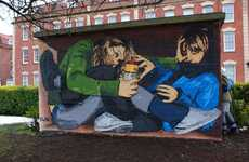 Social Commentary Graffiti - Street Art Comments On Bristol's Drinking Laws