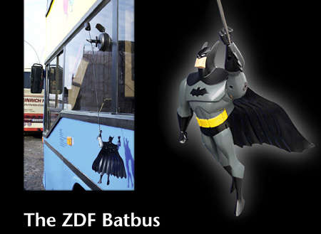Kinetic Busvertising - Batman in the Window of Hamburg Buses Moves When in Motion