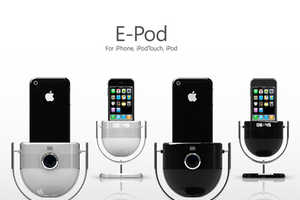 The 'E-Pod' iPod Dock Projects Your Media on the Wall