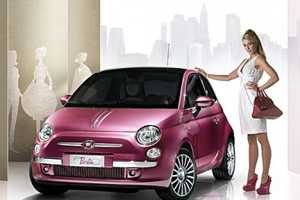 Sparkling Pink Fiat 500 Gift For Barbie's 50th Birthday