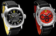 Luxury Supercar Watches - Ferrari Chronograph Collection in Signature Red and Yellow
