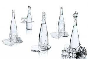 Luxurious Evian Bottles By Jean-Paul Gaultier and Baccarat