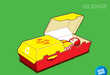 Burger Boxes as Coffins