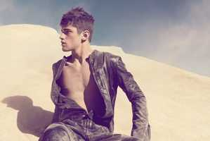 Camilla Akrans Captures Sean O'Pry On a Dune