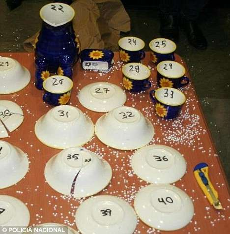 Cocaine Dinnerware - 42-Piece Set Created From 45 Pounds of Blow for a Highfalutin' Dinner Party