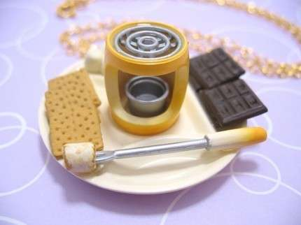 Thimble-Sized Food Jewelry