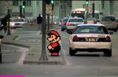 "Real-Life Video Game Mashups -  Matthew Dominick's ""Warp Whistle"" Inserts Mario In"