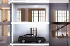 Luxury Condo Car Elevators - 'En-Suite Sky Garage' Featured in Manhattan Condo Complex