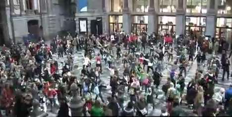 Super-Choreographed Flash Mobs