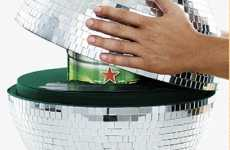 Disco Beer Dispensers - Heineken Mirrored Globe Keg Will Start Any Dance Party Off Right