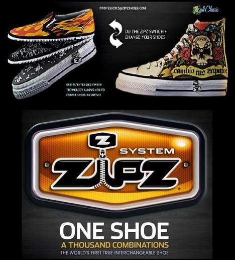 Interchangeable Footwear - Zipz Are Like A Thousand Shoes In One Single Pair