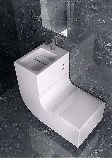 Sink-Toilet Combinations - Roca's Award-Winning W+W Bathroom Fixture