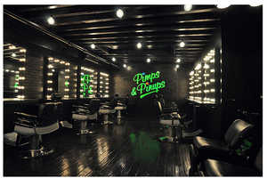 Vintage Glam 'Pimps & Pinups' Hair Salon in NYC