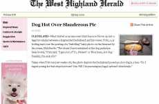 Dog Newspaper Promos - Cesar's The West Highland Herald Shares Headlines for Hounds