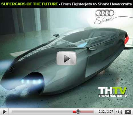 Kickass Cars of the Future - Fighter Jet Supercars, Open Source Eco Cars and Shark-Shaped Hovercraft