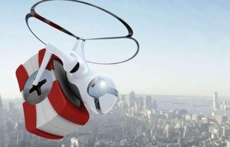 Alien Robo-Copters – The 'Cargonaut' Humanoid Robot Is A Personal Flying Courier