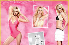 Cotton Candy Ads - Britney Spears Looks Sweet as Barbie in Candies for Kohl's Ads