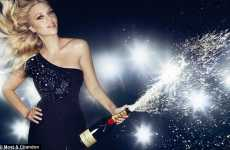 Celebrity Champagne Explosions - Scarlett Johansson Gets Suggestive For Moet & Chandon