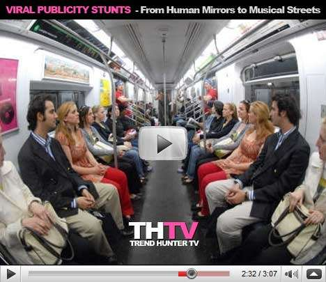 Top 10 Publicity Stunts - Human Mirrors, Train Station Mobs and Dorm Light Shows