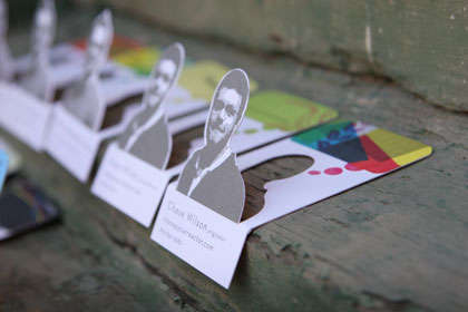 Pop-Up Business Cards - Clifton Alexander's 3D Creation Features a Pop-Up Self-Portrait