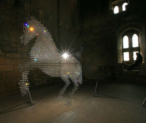 Giant Crystal Horses