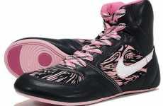 Pink Zebra-Print Sneakers - Nike Women's Greco Wrestling Shoe