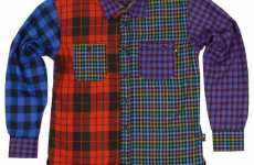 Clashtastic Plaid Shirts - Trainerspotter Button-Downs Are a Mishmosh of Tartan Patterns