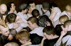 Modern Nightlife Paintings - The Artistic Wonders of Mosh Pits Captured By Dan Witz