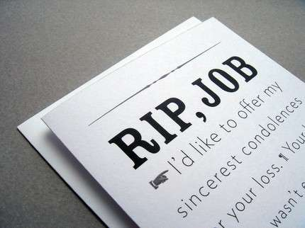 Lay Off Greetings - RIP Job Cards Offer Condolences For Those Getting Sacked