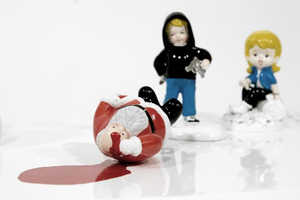 Barnaby Barford Depicts Children Performing Chilling Acts of Violence