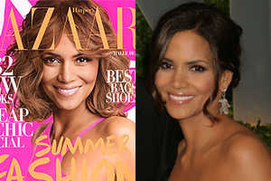 Halle Berry Gets Older for Harper's Bazaar May 2009 Issue