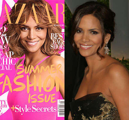 PhotoAging Famous Faces - Halle Berry Gets Older for Harper's Bazaar May 2009 Issue