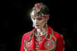 Slava Zaitsev's Eccentric Moscow Fashion Week Runway