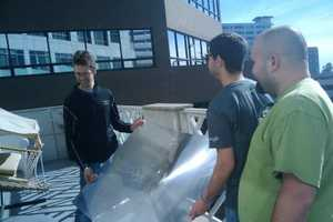 At Google, Burn Things Up With Giant Lens During Lunch