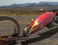 David Goncaves 'Strider' Bike for Cartoon Crime-Fighters