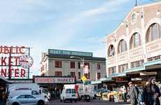 Communal Downtown Public Markets - Pike Place Public Market in Seattle Supports Artisans & Farmers