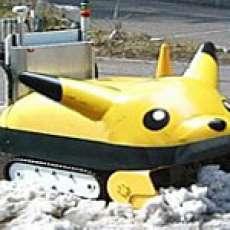 Robot Snow Shovels The Roofus
