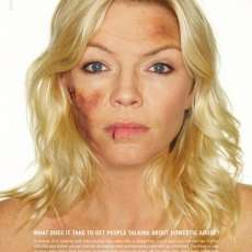 Celebs Photoshopped For Domestic Violence - New Women's Aid Campaign