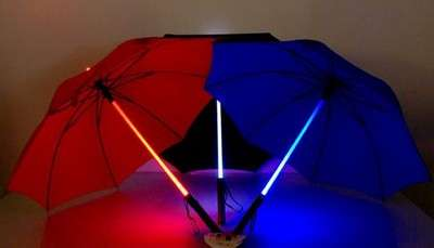 Light Saber Umbrella - LED and Rain Protector Together at Last