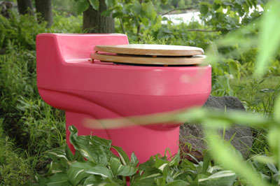 Environmental Toilets - Go Green with a Pink Toilet (or 14 other Colors)