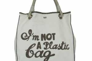 "Anya Hindmarch ""I'm Not A Plastic Bag"" for Environmental Shopper"