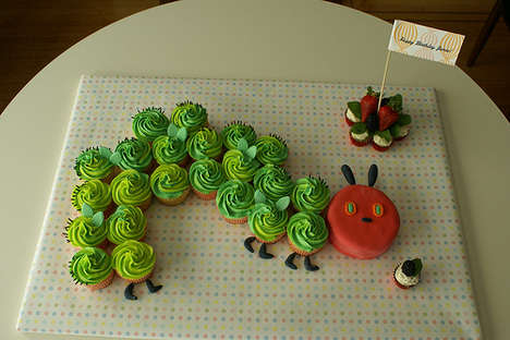 Hungry Caterpillar Cupcakes - Canadian Baker Creates Custom Dessert Delights
