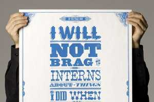 'Words to Work By' Posters From Publicis Mojo