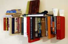 Green DIY Bookshelves - The 'Book Book Shelf' by Not Tom Recycles Your Old Novels