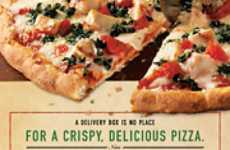 Twitter Pizza Promos - Kraft's DiGiorno Delivers Free Flatbread Pizza to Tweetups