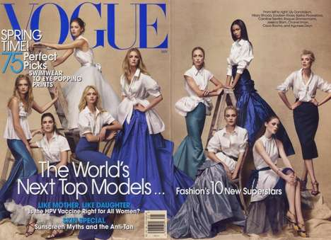 9-Model Magazine Covers