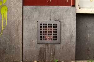 Little Girl Trapped Behind A Grate By Dan Witz