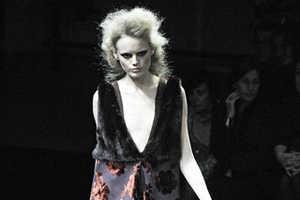 Prada's Modern Twist on a Vintage Fabric for Fall 2009